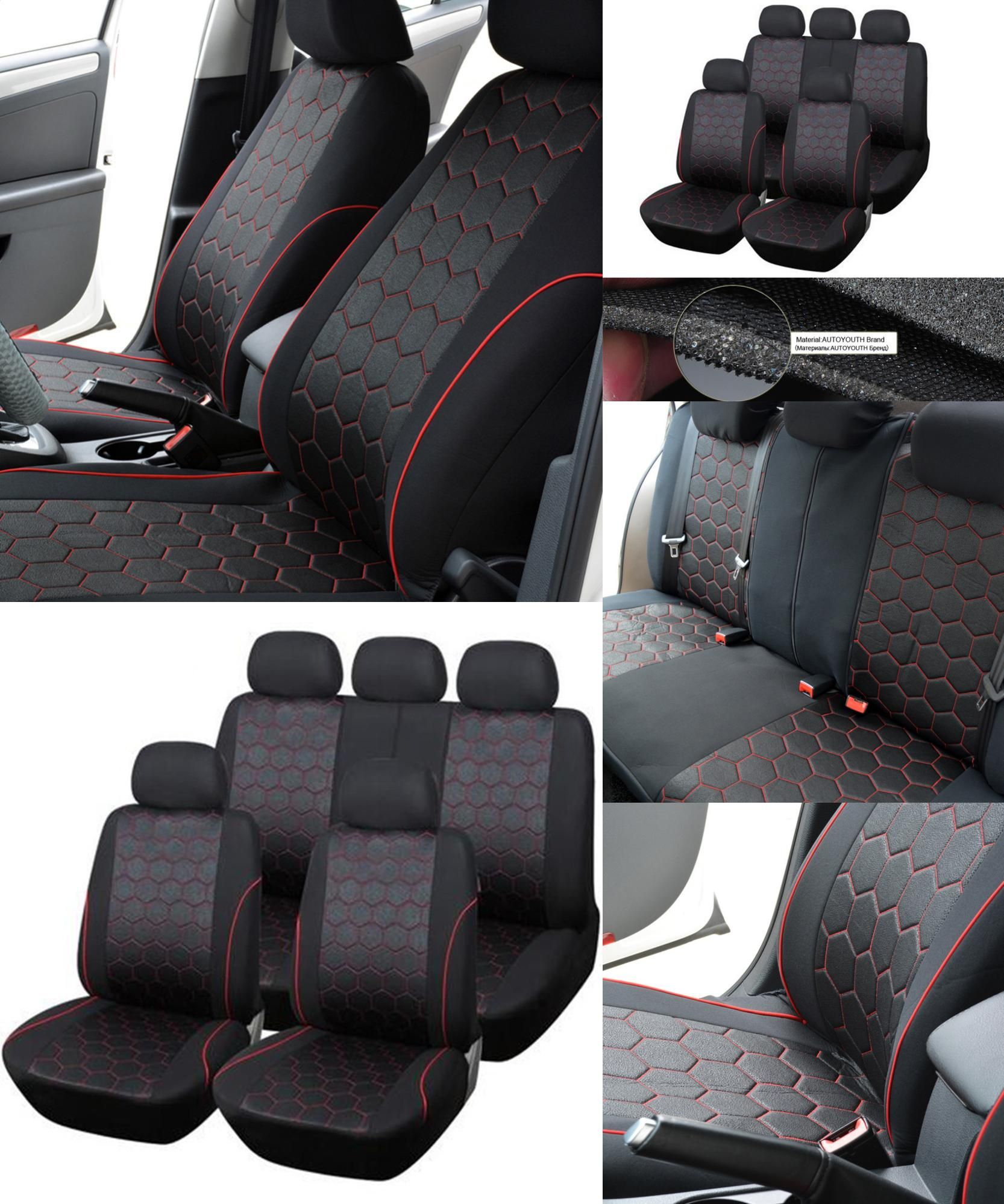 Visit to Buy] 1 Sets Hexagon Auto Car Seat Cover Car Accessories Car ...