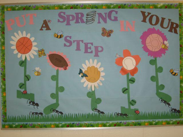 Pec bulletin boards for physical education for spring for Garden design ideas cork