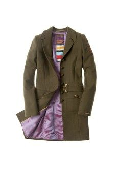 Superdry 30's military style coat
