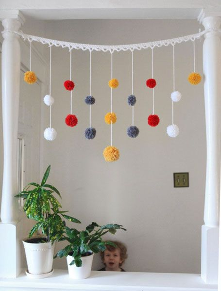 Pump Up Your Space with Pom-Poms   kwikdeko