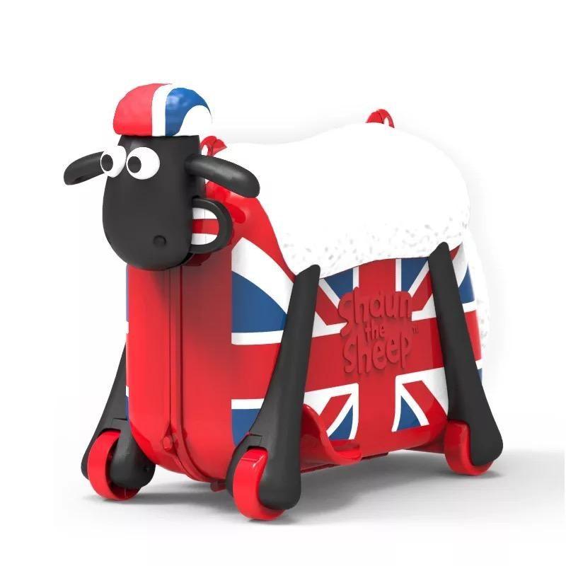 Kids Cute Cartoon Sheep Shape Ride On Trolley Suitcase Bag Kids Travel Bags Girls Luggage Kids Suitcase