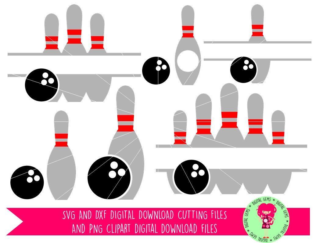 Bowling Ball And Pins Svg Dxf Eps Png Files Digital Etsy Bowling Cricut Vinyl Crafts