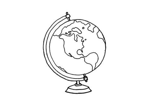 malvorlage globus  ausmalbild 15640  globuszeichnung