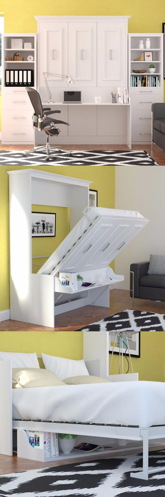 The porter queen wall bed with a desk built in is a truly unique and