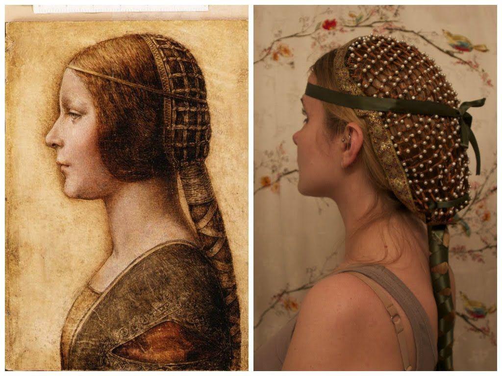 collaboween: diy hair snood inspired by da vinci's la bella