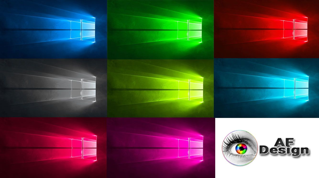 Windows 10 Official Wallpaper Different Colors
