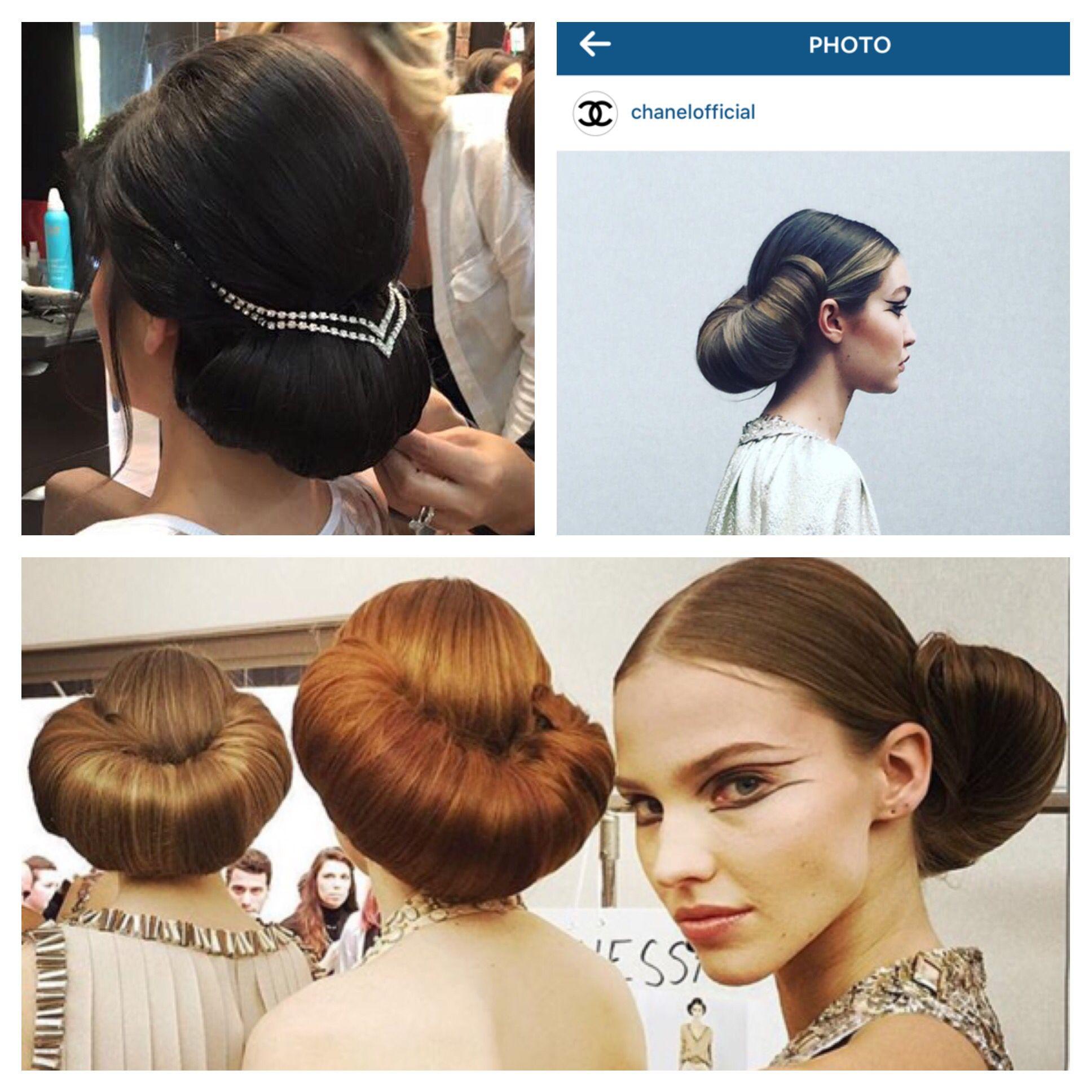 Chanel runway 2016 hair was so similar my wedding updo  #highfashion ;)
