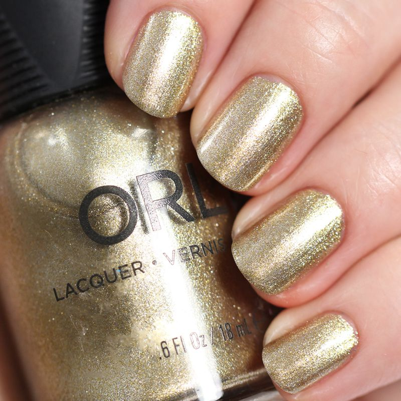 Luxe Nail Lacquer | Gold nail polish, Gold nail and Swatch