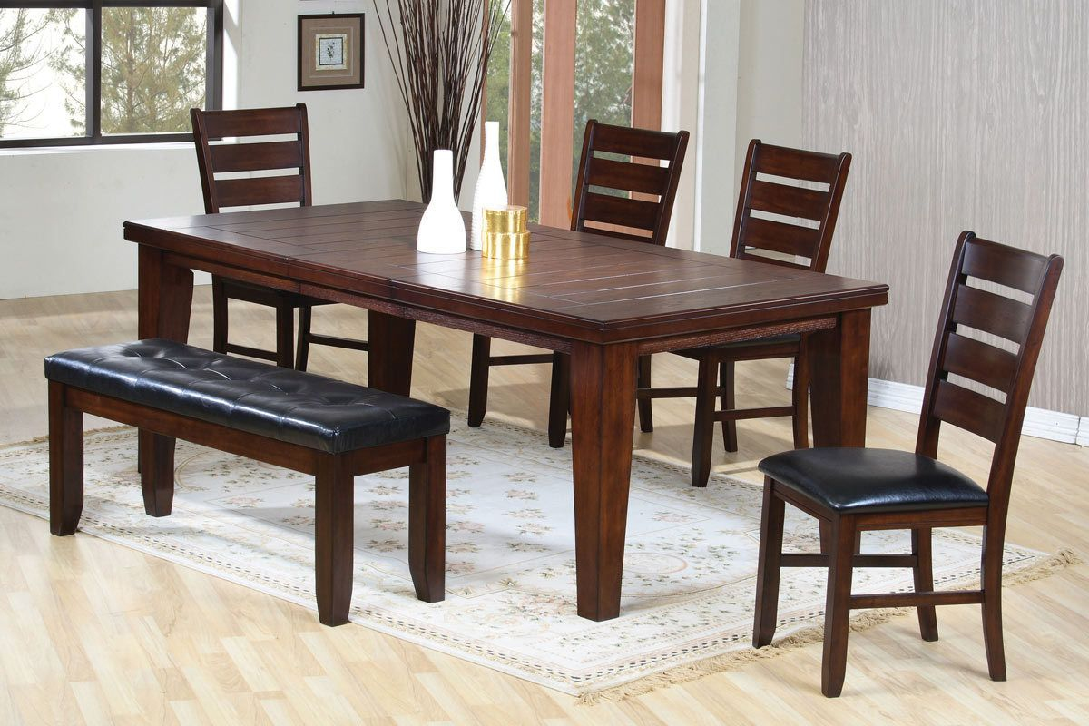 Dining Table with Chairs & Bench Set 101881X60W