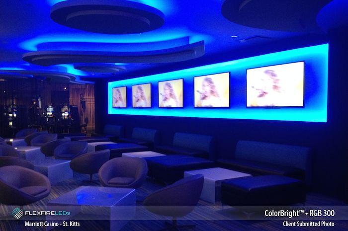 Color Changing Led Strip Lights At The St Kitt S Marriott Casino Lichtleiste Led Stripes Heimkino