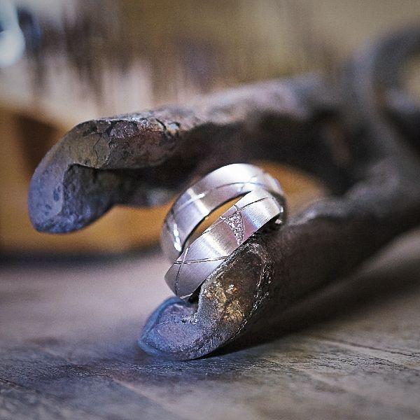 Ehering Weissgold mit Diamant Eheringe Trauringe