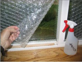 Use Bubble Wrap Window Insulation Applying bubble wrap packing
