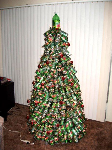 redneck christmas tree this is something travis would doand have enough cans to do it - Redneck Christmas Tree