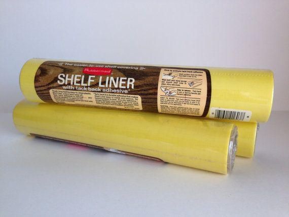 Vintage Yellow Contact Paper Rubbermaid Shelf Liner 1978 Solid
