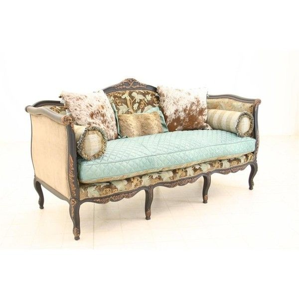 Caledonian Sky Leather Sofa ($7,995) ❤ Liked On Polyvore Featuring Home,  Furniture,