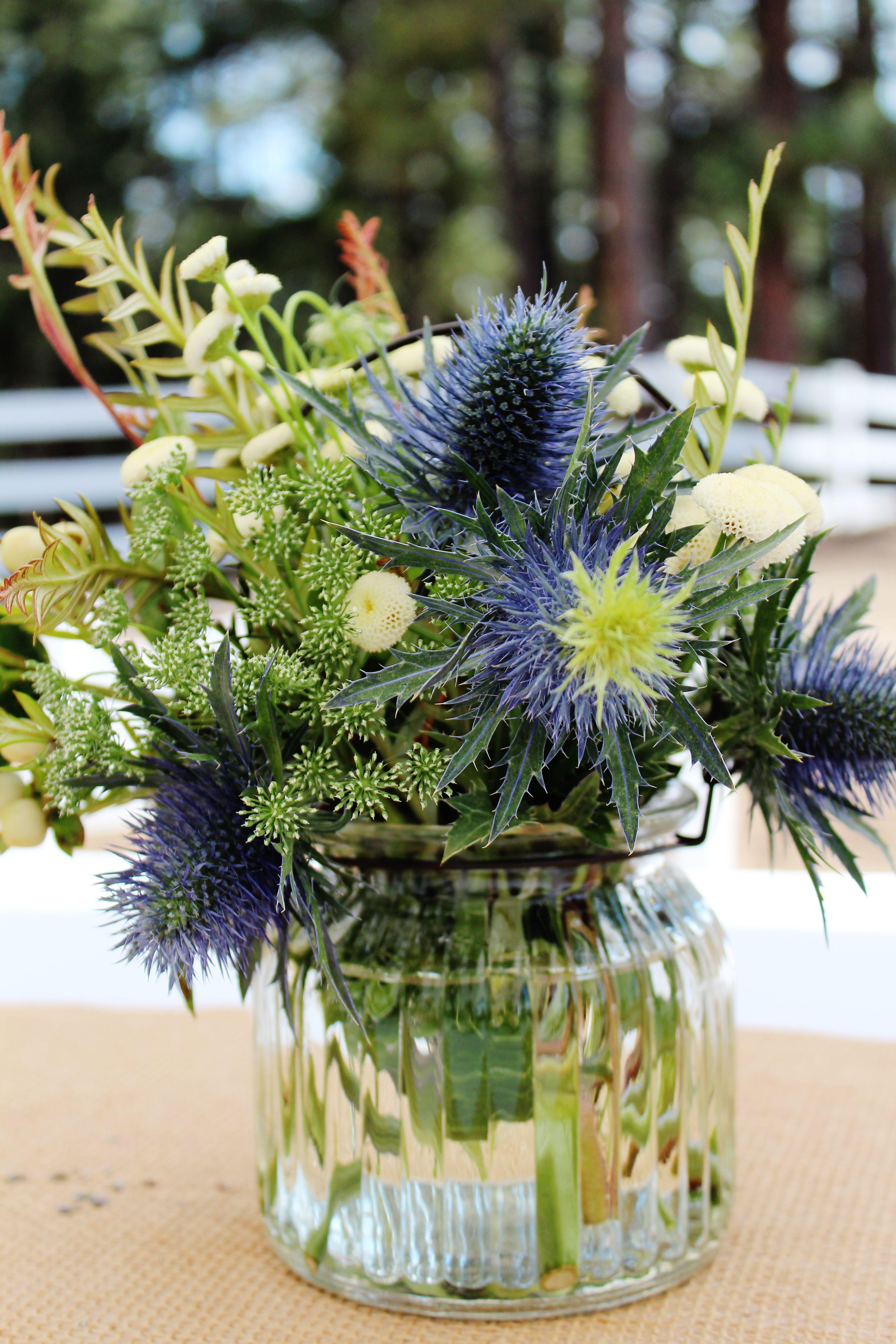 Pin By Emz Heldreich On Flower Chic Thistle Flower Arrangement Small Flower Arrangements Flower Arrangements