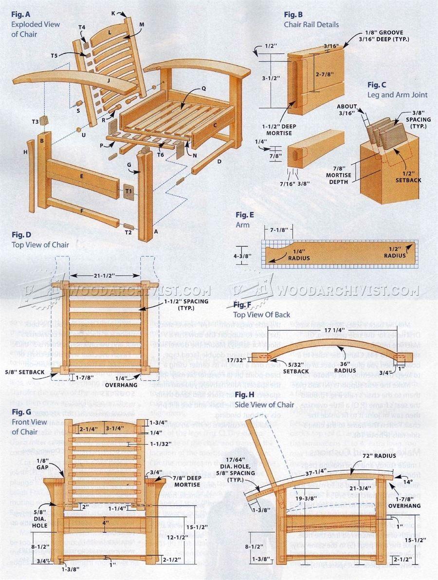 140 Morris Chair Plans Furniture Plans Sillas Mesedoras De