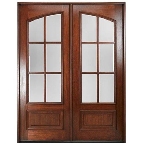 Marfl6 2 Sq Double Doors Exterior Wood Front Entry Doors Exterior Doors
