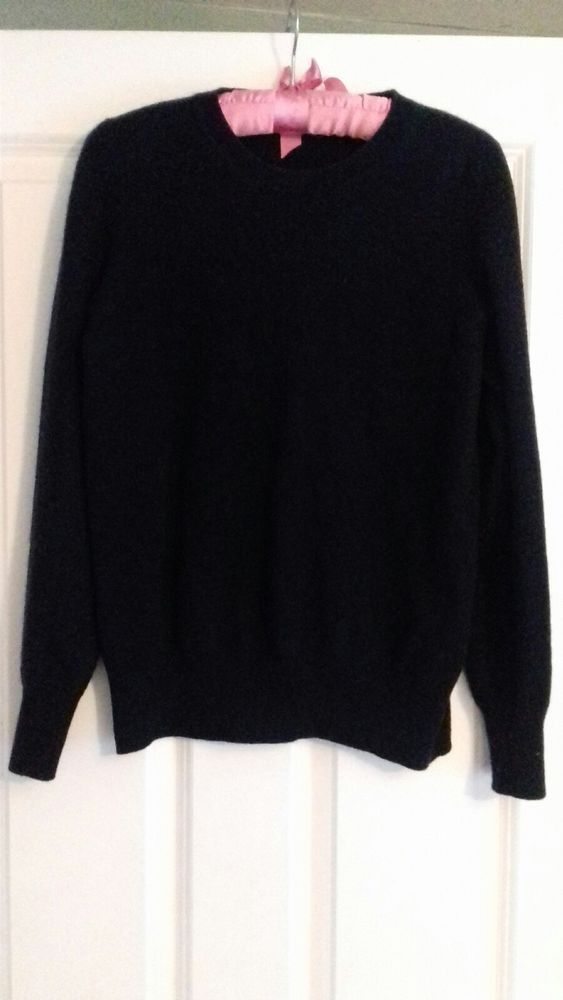 favorable price first look super cute Pure Cashmere Jumper 12 14 Navy Blue Autograph M and S VGC ...