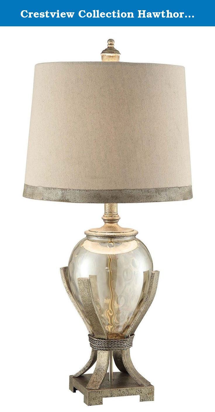 Crestview Collection Hawthorne Glass Table Lamp. This Crestview Collection  Table Lamp Will Update Your Home