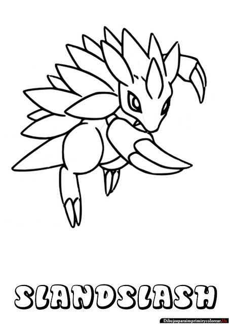 Dibujos de Pokemon para Imprimir y Colorear | sandslash | Pinterest ...