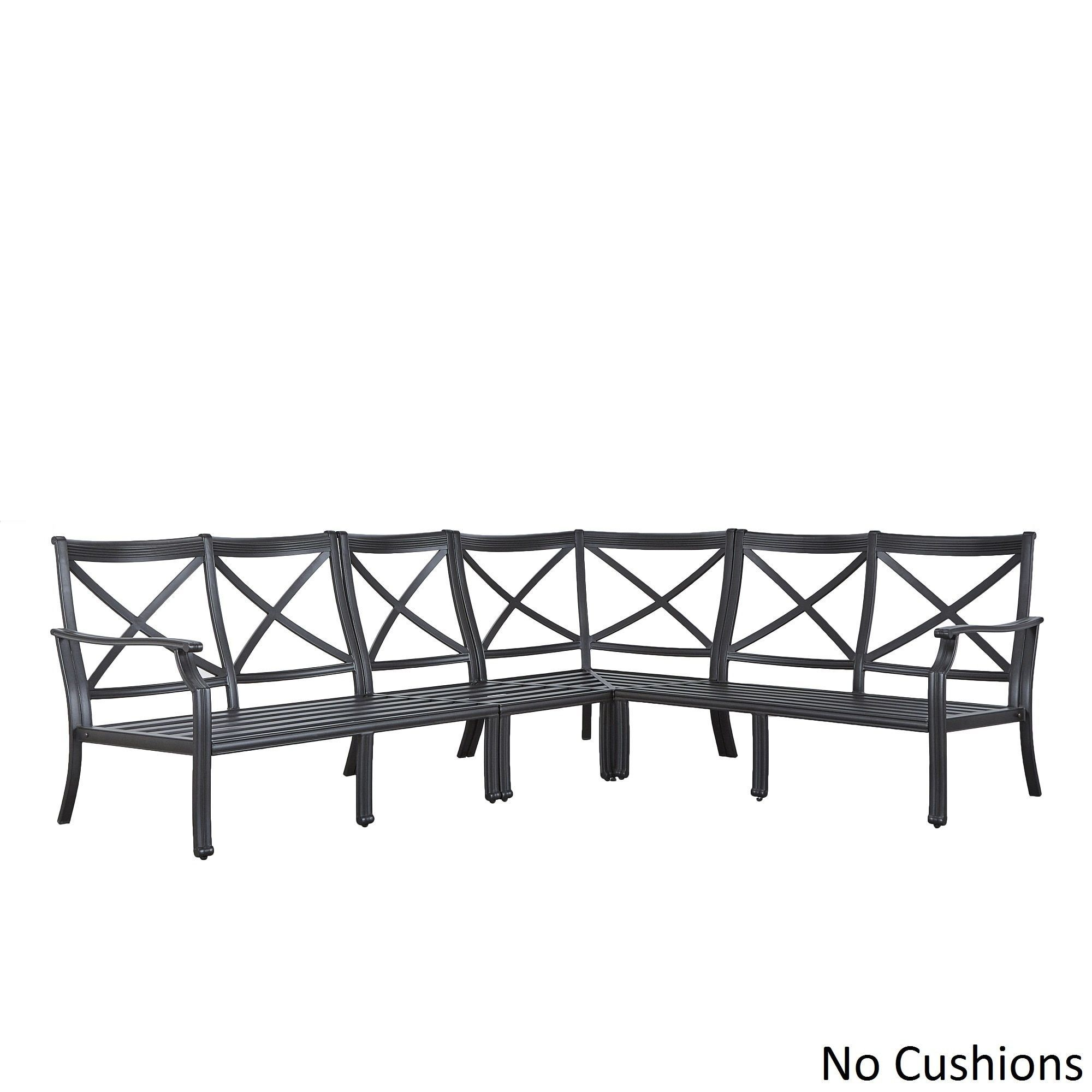 outdoor sectional metal. Matira Metal Modern 6-seat L-shaped Outdoor Sectional By INSPIRE Q Oasis (