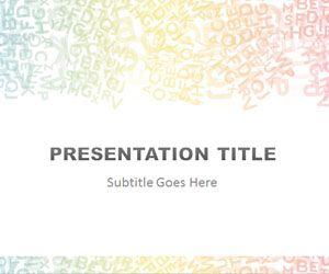 alphabet colored powerpoint template is a free abstract powerpoint, Modern powerpoint