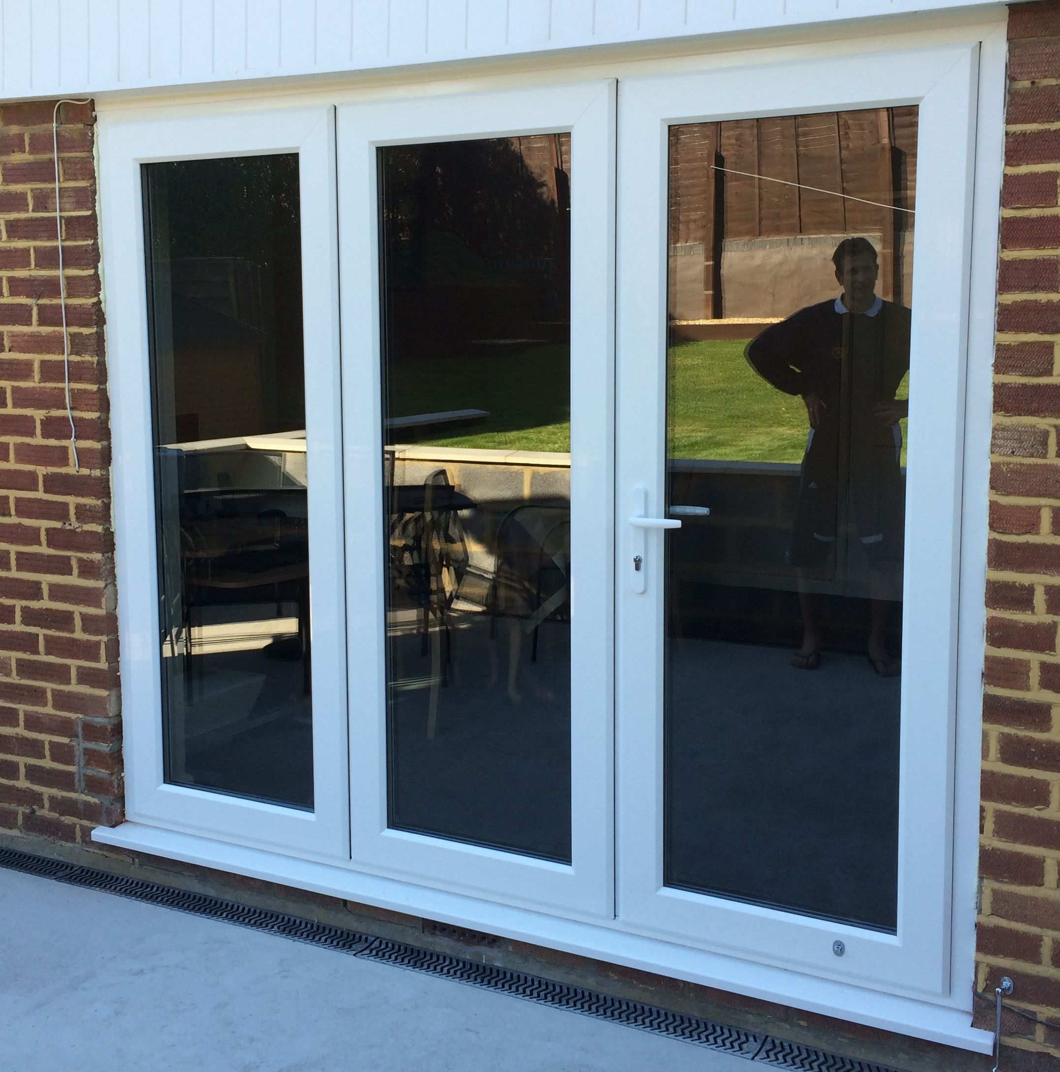Securi Slide Fold Door Closed The Individual Panels Interlock With Each Other For Increased Security See The Video On Ou Sliding Folding Doors Upvc Doors