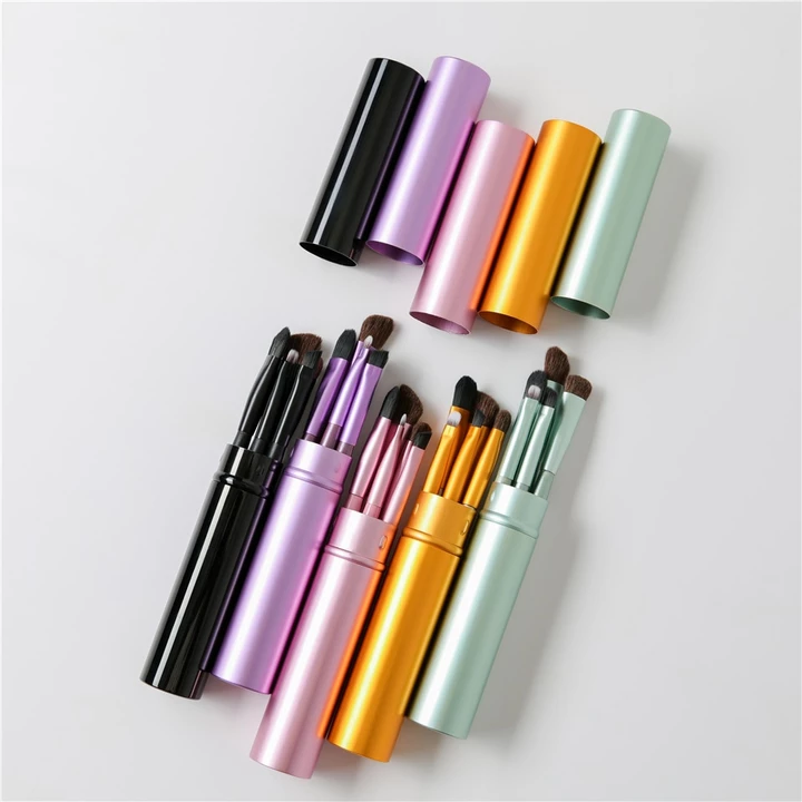 5pcs Travel Portable Mini Eye Makeup Brushes Set Smudge Eyeshadow Eyeliner Eyebrow Brush Lip Make U