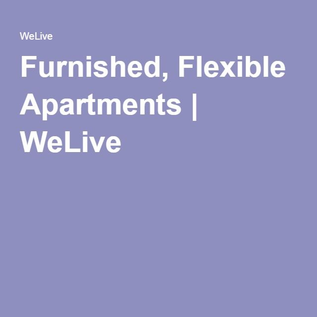 Furnished, Flexible Apartments