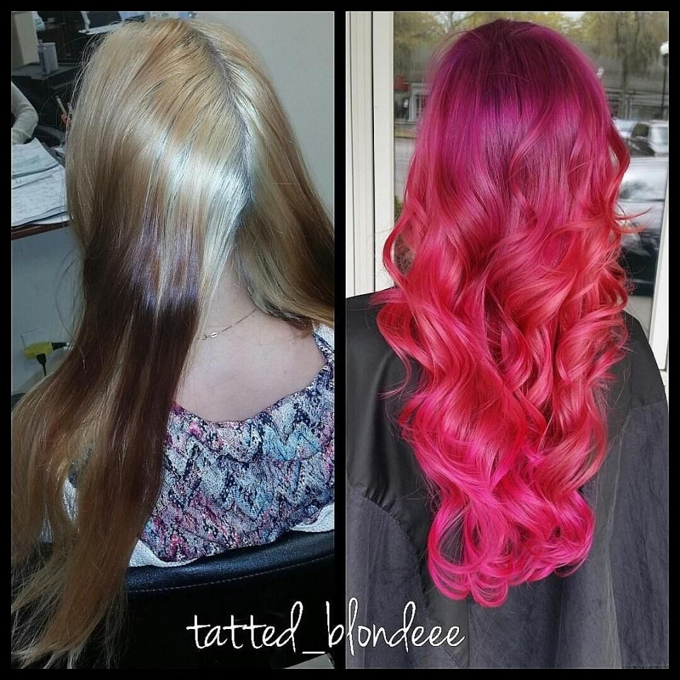 Correction ombre to raspberry sombre career ombre salons and