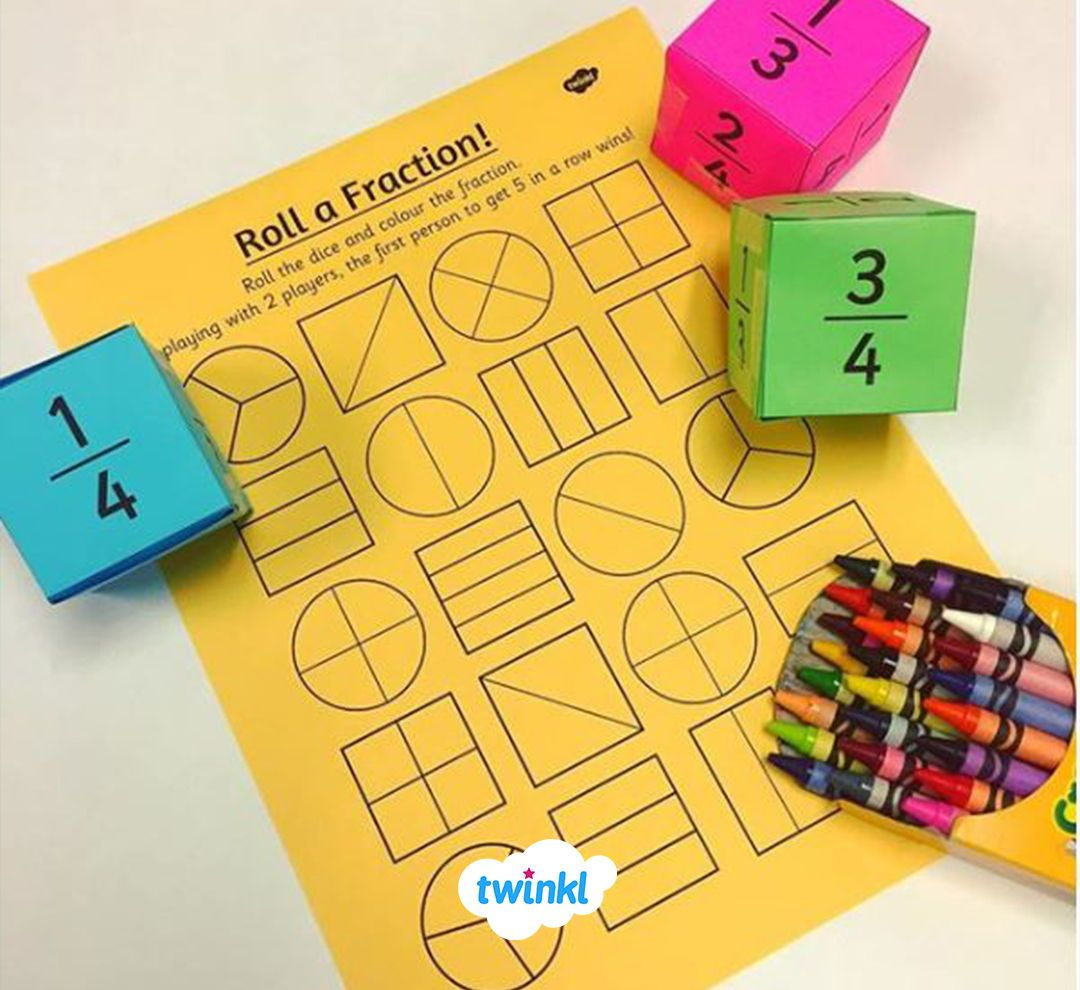 Roll A Fraction Activity Sheet This Handy Activity Gives