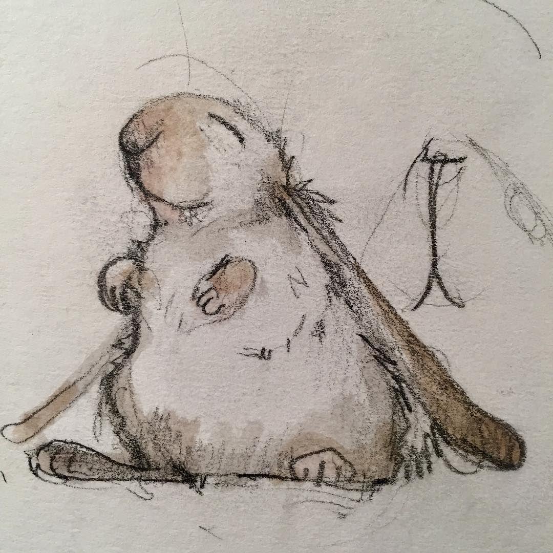 """855 Likes, 10 Comments - Emily Gravett (@emily_gravett) on Instagram: """"Happy rabbit from old old sketchbook #rabbitsofinstagram #sketchbook #rabbits #bunnies…"""""""