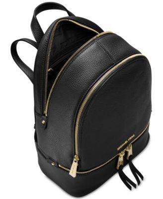 Michael Michael Kors Rhea Zip Small Backpack - Black   Products in ... a1455db94f
