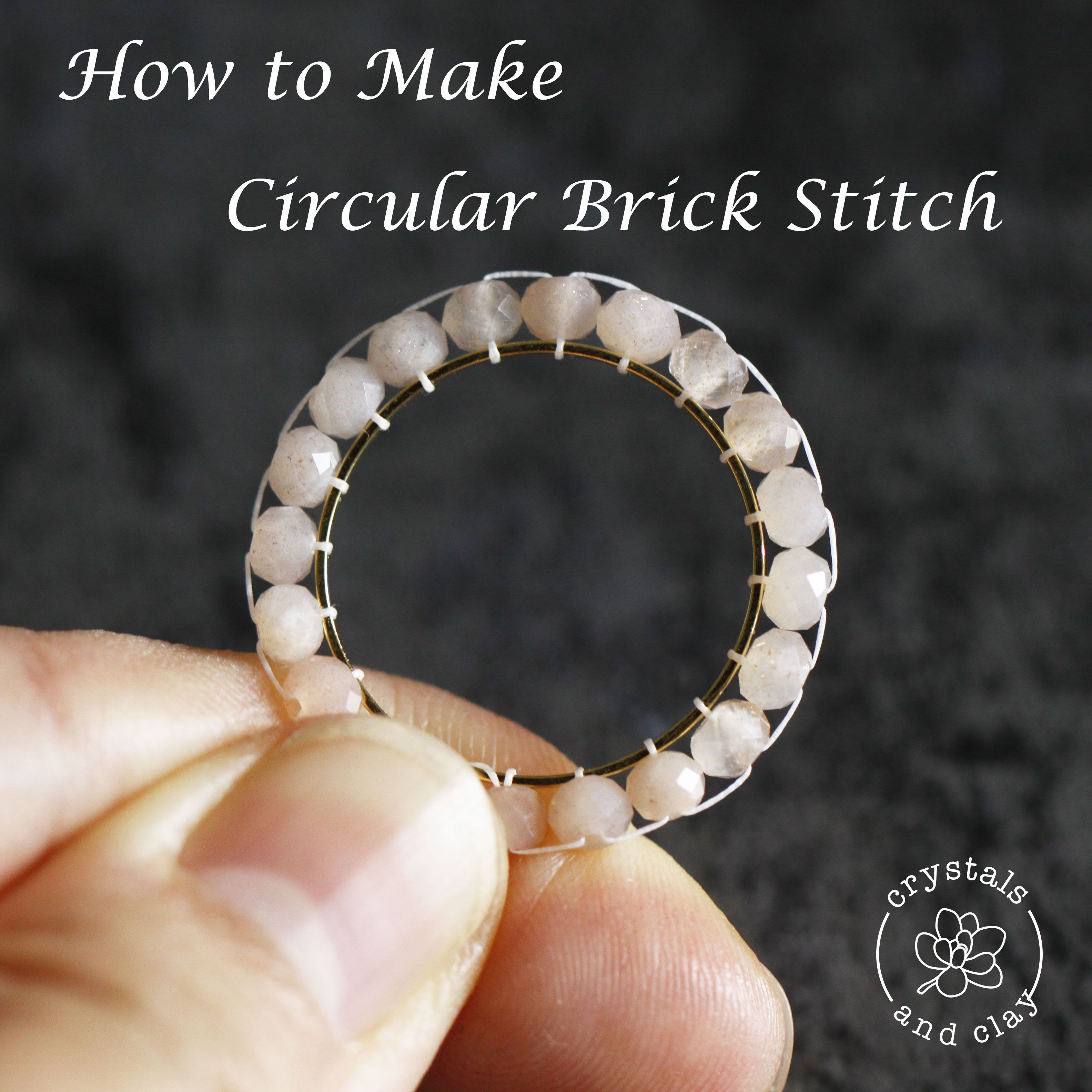 Photo of how to do circular brick stitch