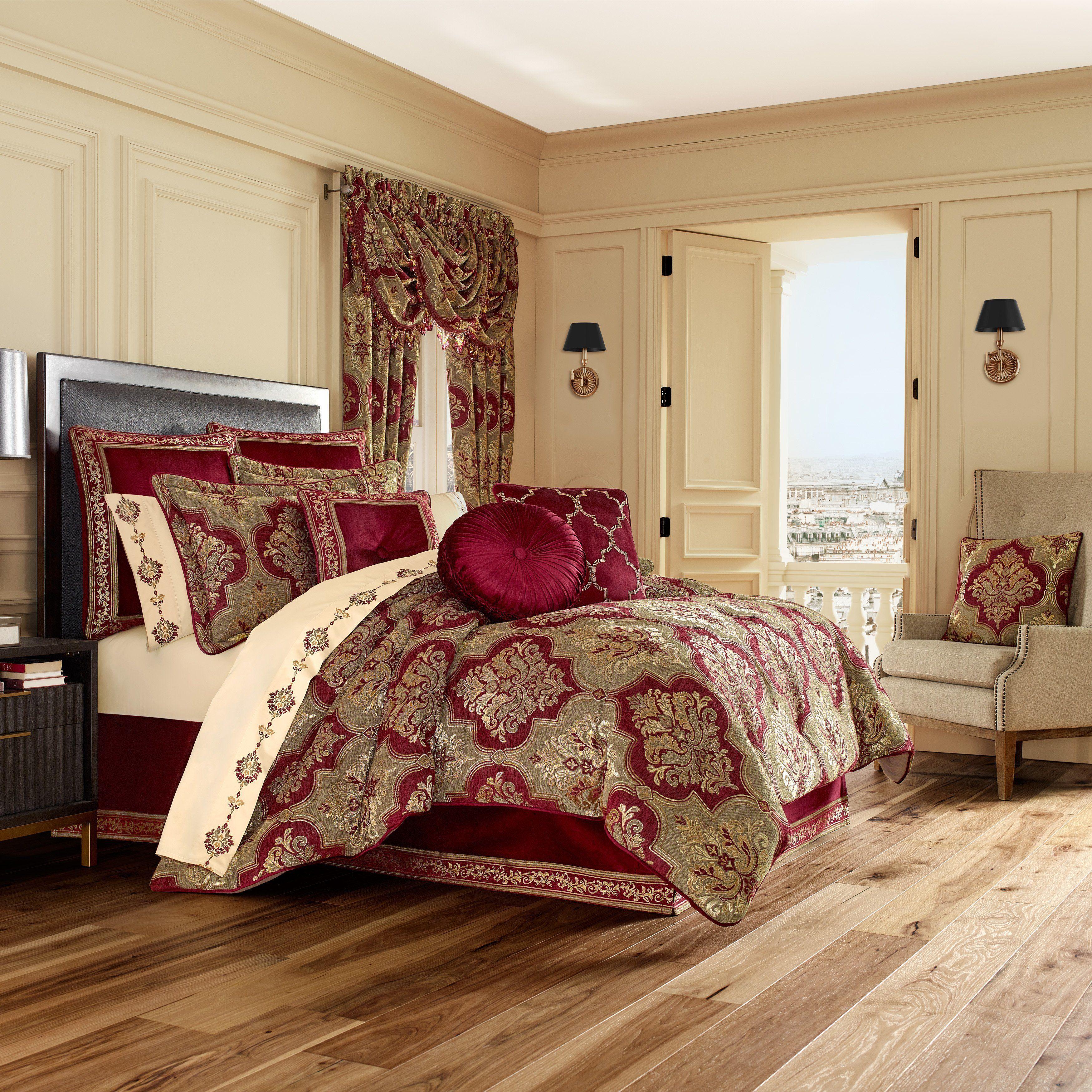 Maribella Crimson 4Piece Comforter Set in 2020