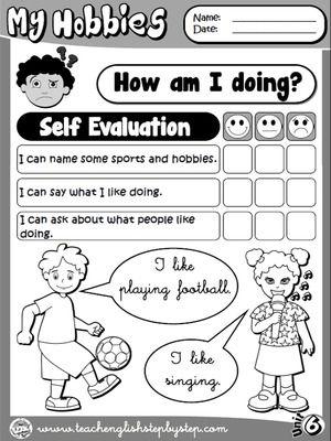 Hobbies  Self Evaluation BW Version  Dzieci