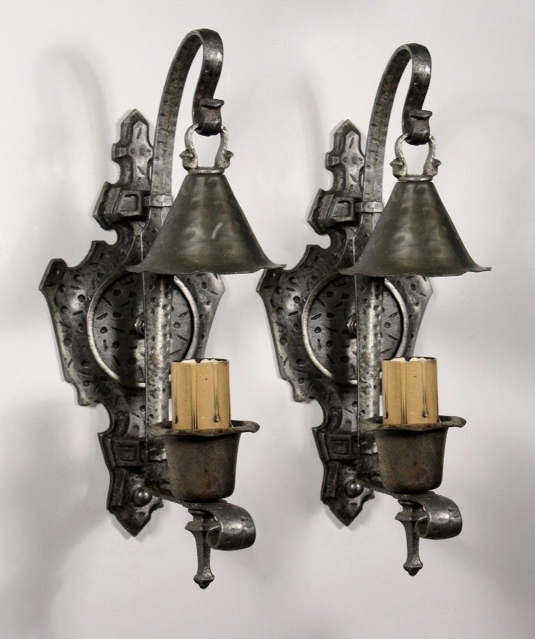 1920s sconces with snuffer shades Antique Vintage Lights