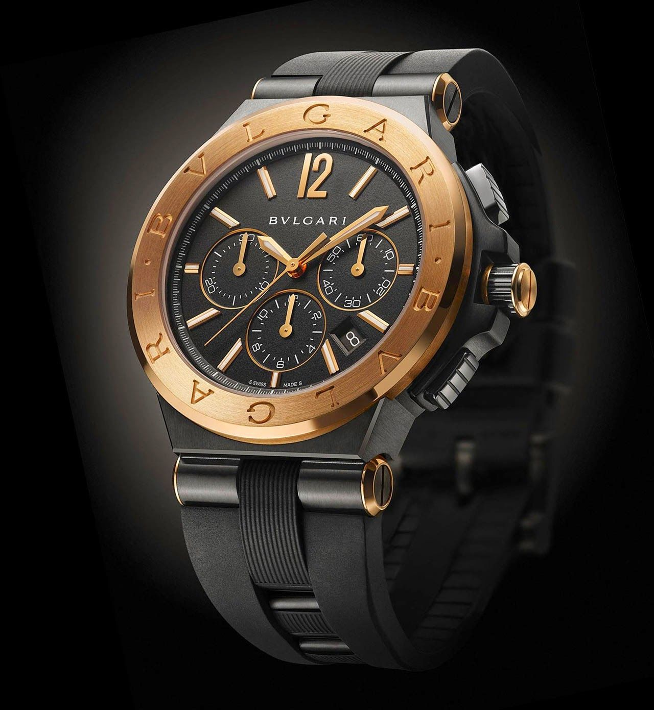 ed5ba1eb04b Bulgari - Diagono Ultranero Chronograph