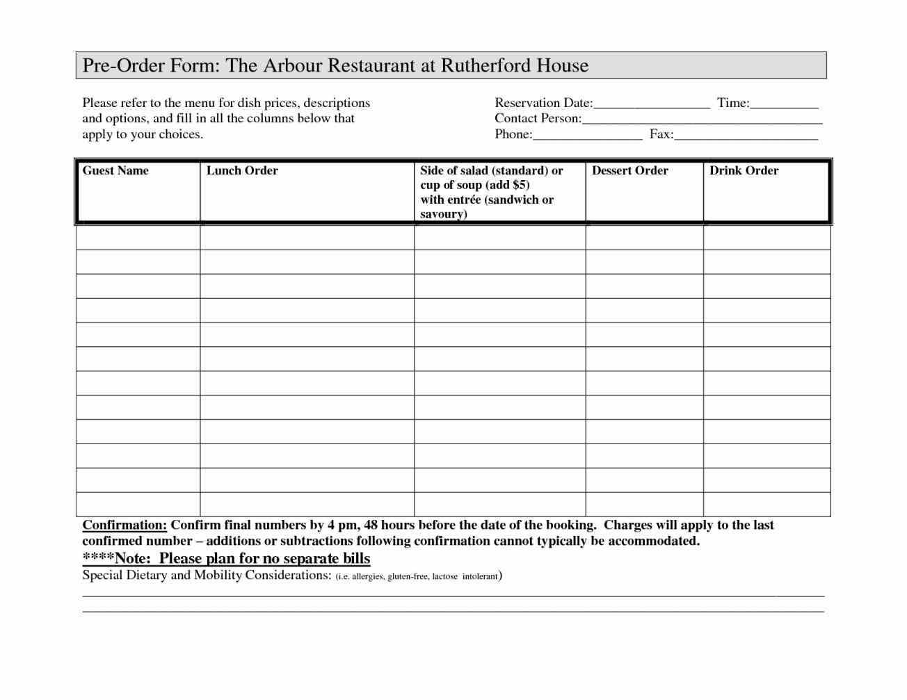 you Restaurant Order Form Template cant get enough of that awesome ...