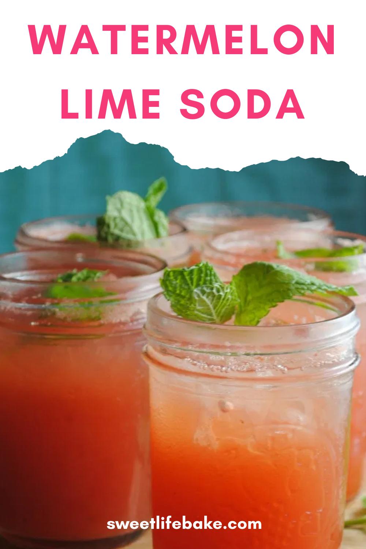 Watermelon Lime Soda In 2020 Lime Soda Watermelon Drink Watermelon