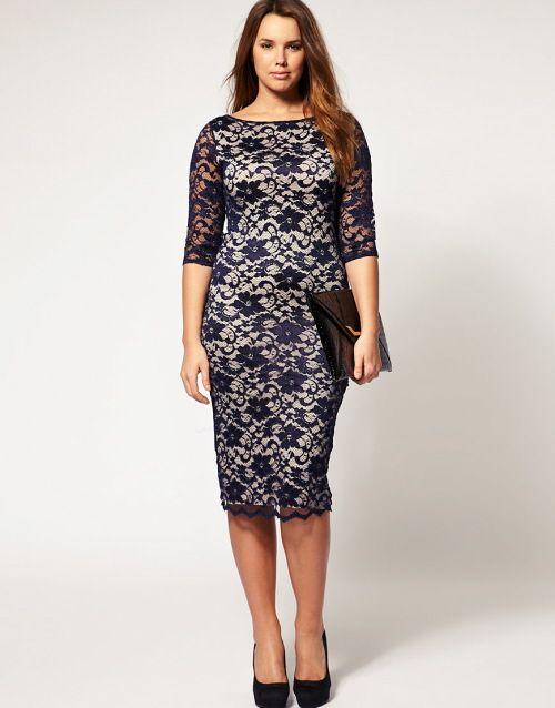 Plus size lace dresses uk
