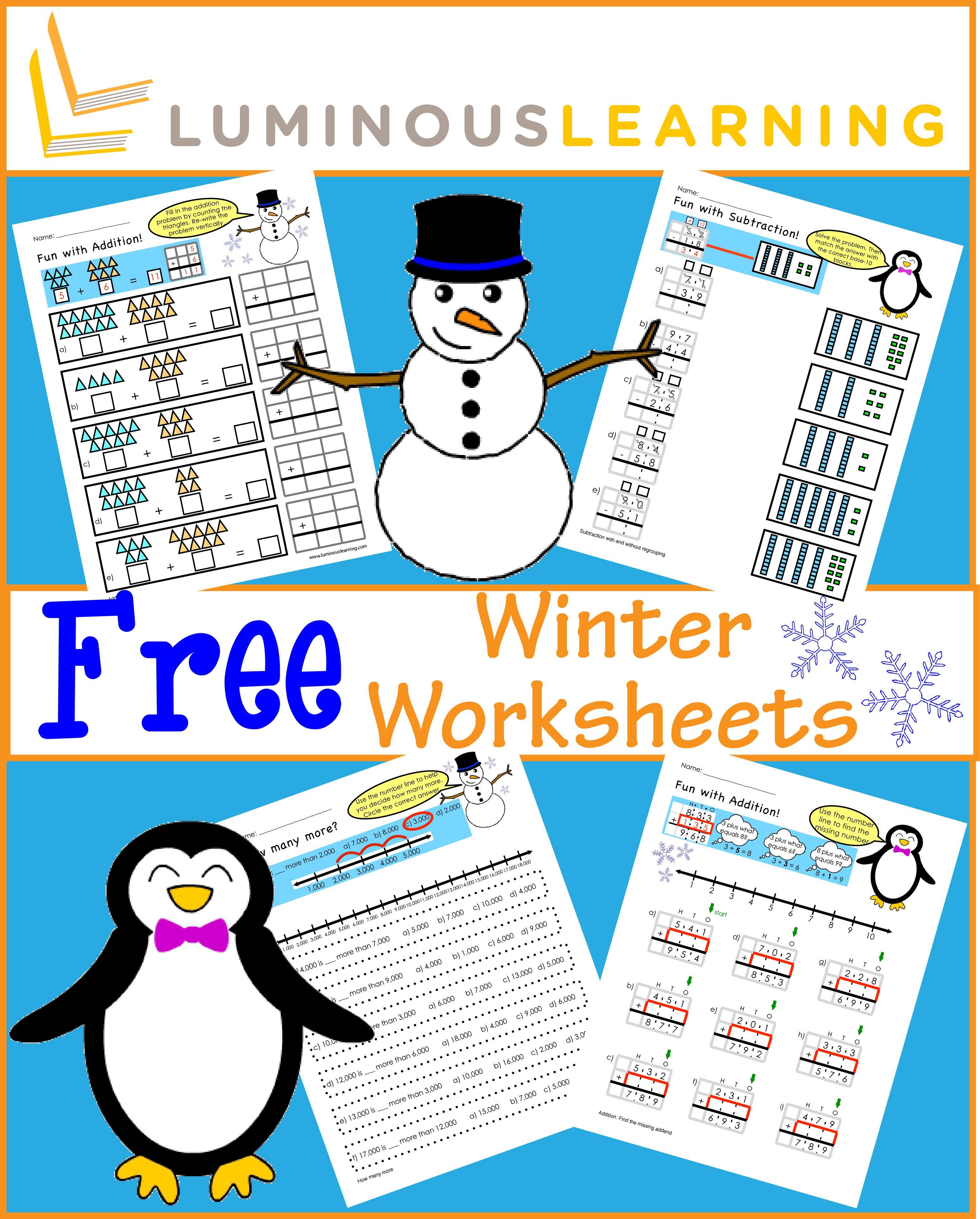 Free Math Worksheets Luminous Learning