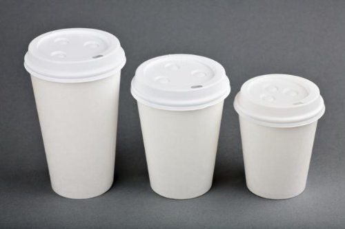 a40ce89090e 100 Sets 16 oz Paper Coffee Cup Solo Disposable White Hot Cup with ...