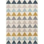 Well Woven Mystic Nova Modern Geometric Ivory 7 ft. 10 in. x 9 ft. 10 in. Area Rug #setinstains