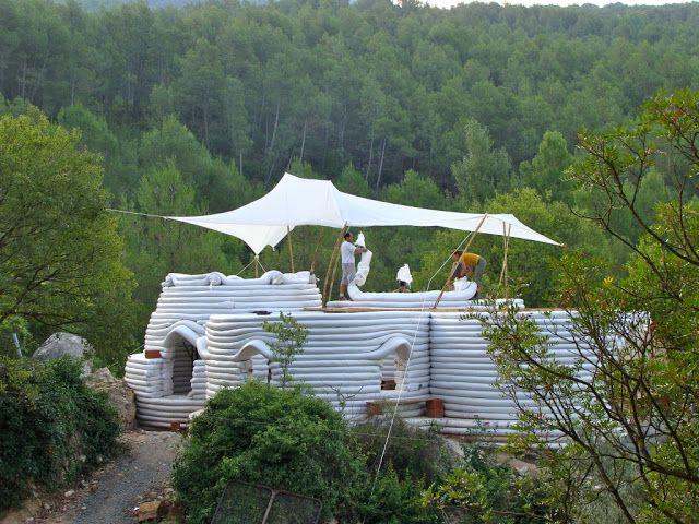 Autoconstrucción Superadobe Superadobe Casas De Tierra Casa Ambiental