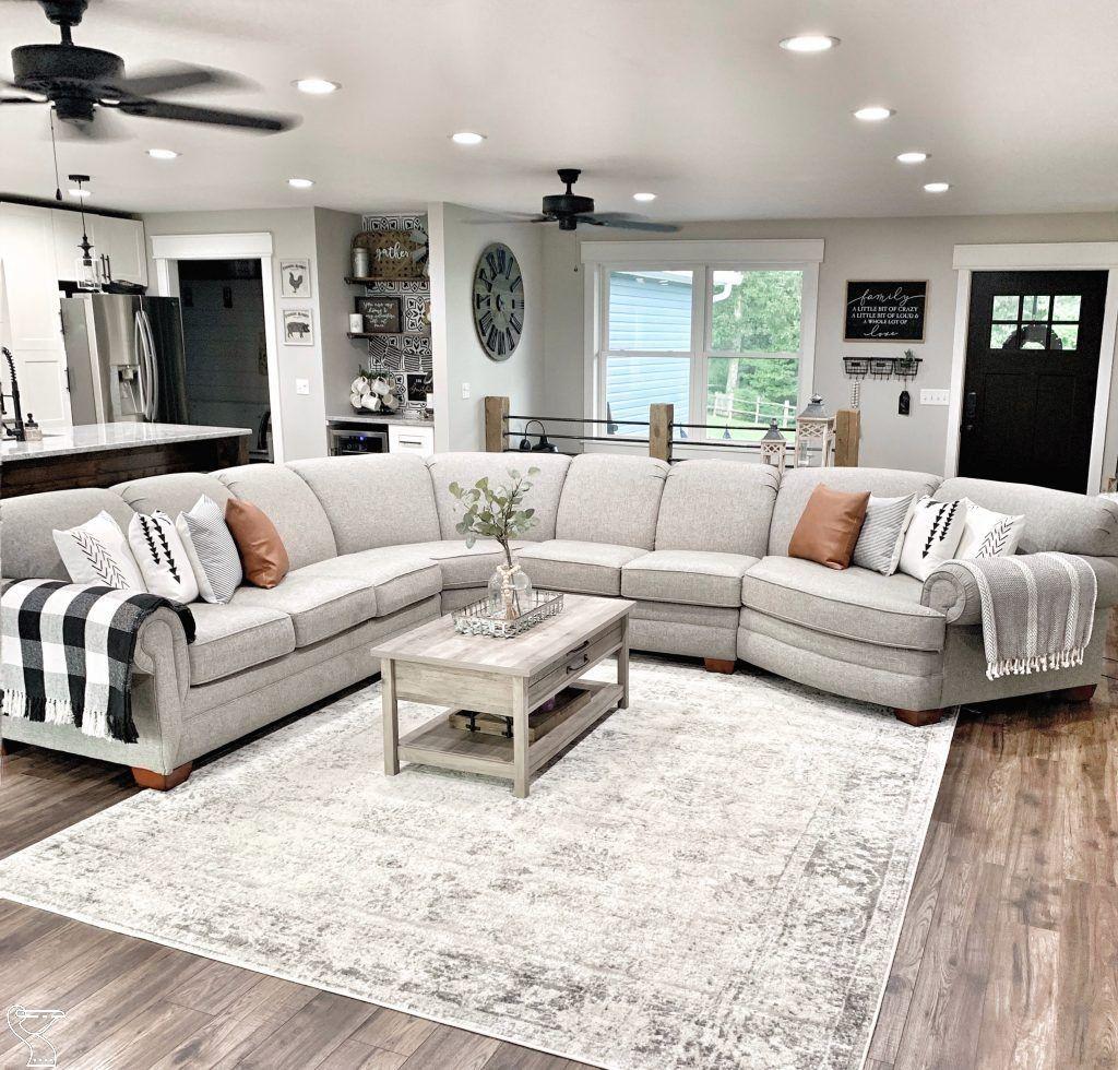 Boho summer modern farmhouse living room neutral
