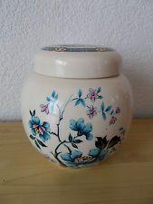 Sadler Porcelain Floral Ginger Jar,Collectible Floral Sadler Ginger Jar,Vintage Sadler Porcelain Floral Ginger Jar,vintage floral ginger jar