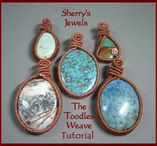 Tutorial The Toodles Weave with wire - Weaving a pendant and a ring ...