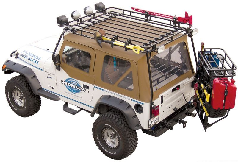 Garvin 34098 Wilderness Expedition Rack For 97 06 Jeep Wrangler Tj Jeep Gear Jeep Wrangler Tj Jeep Wrangler Yj
